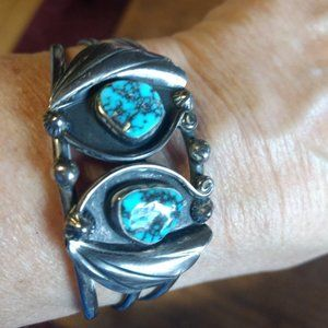 Cuff Sterllng Silver Turquoise Bracelet